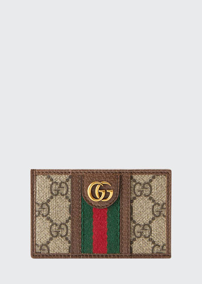 Men's GG Supreme Canvas Marmont Vertical Wallet