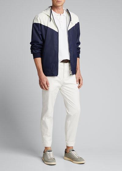 Men's Spa Zip-Front Hooded Jacket