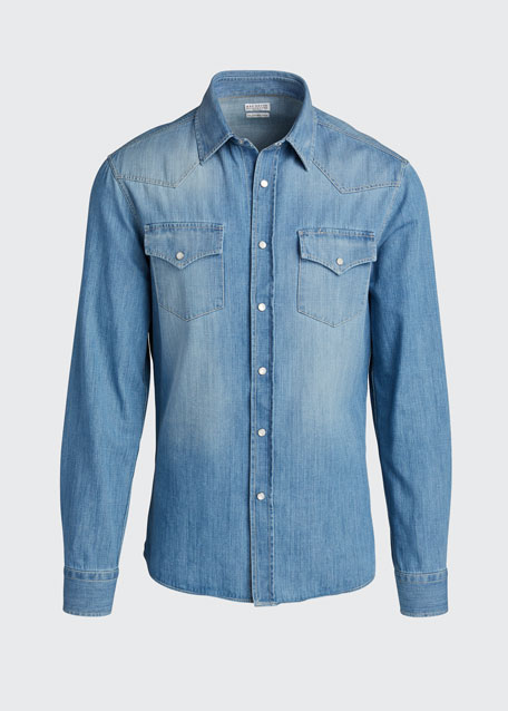 Men's Dual Front-Pocket Western Shirt