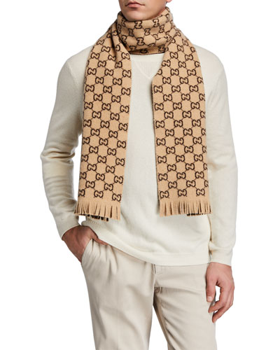 Men's GG Wool Scarf