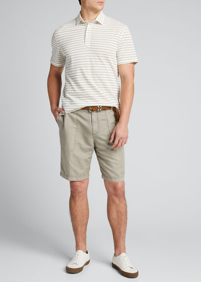 Men's Linen-Cotton Bermuda Shorts