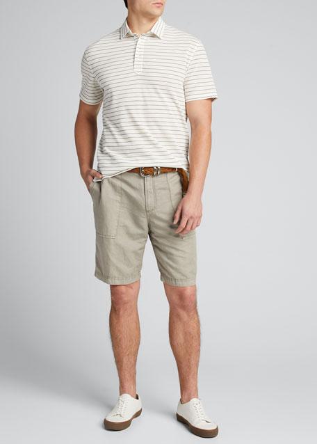 Men's Linen-Cotton Bermuda Shorts