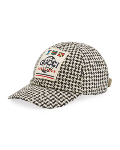 Men's Worldwide Houndstooth Baseball Hat