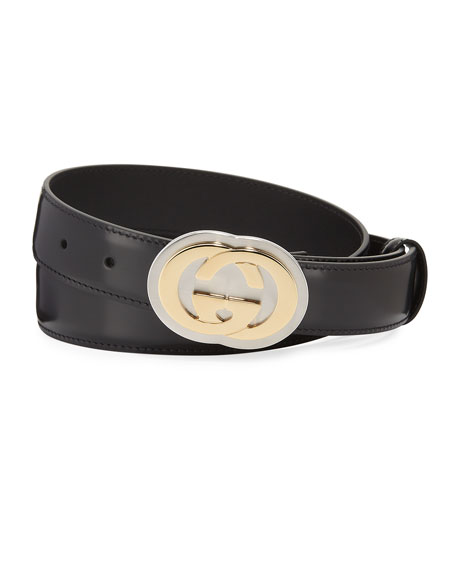 Men's Interlocking G Leather Belt