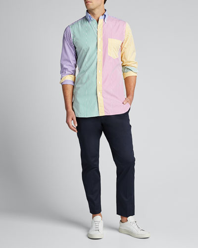 Men's Multicolor Striped Sport Shirt