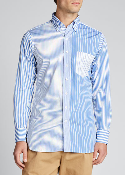 Men's Multi-Striped Sport Shirt