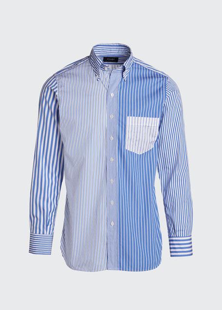 Men's Multi-Striped Sport Shirt