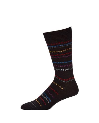 Men's Chain Stripe Socks