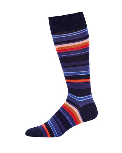Men's Horizon Striped Knit Socks