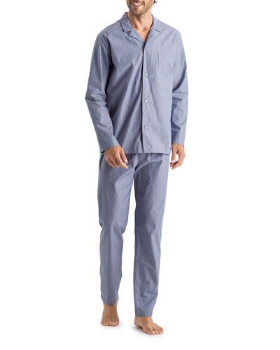 Men's Lynel Striped Cotton Pajama Set