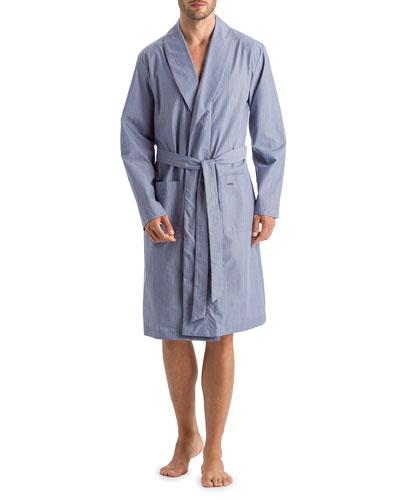 Men's Lynel Striped Cotton Robe
