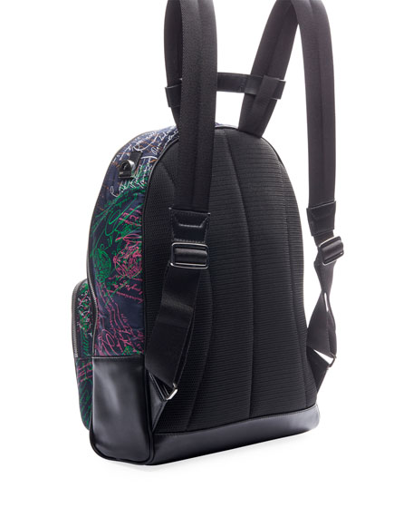 Men's Time off Multicolor Script Backpack