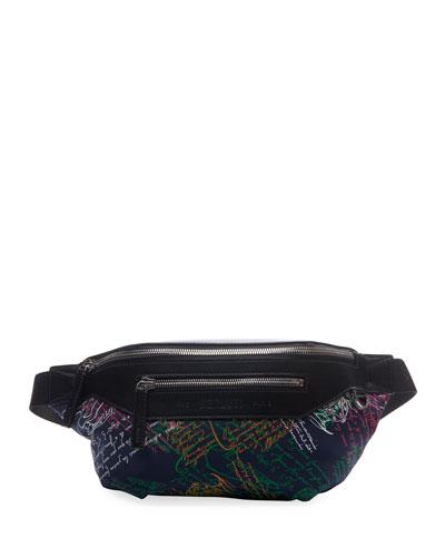 Men's Complice Multicolor Script Belt Bag