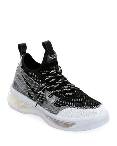 Men's V-Cloud Colorblock Sock Sneakers  White
