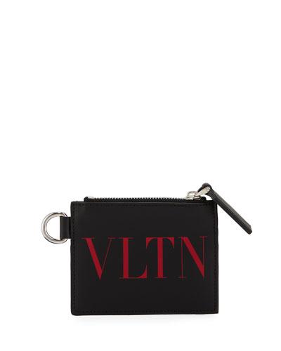 Men's VLTN Leather Card Case
