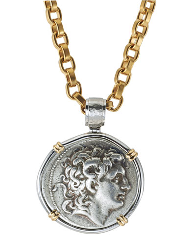 Men's Ancient Alexander the Great Coin Pendant