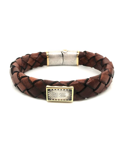 Men's Ancient Coin Leather Bracelet