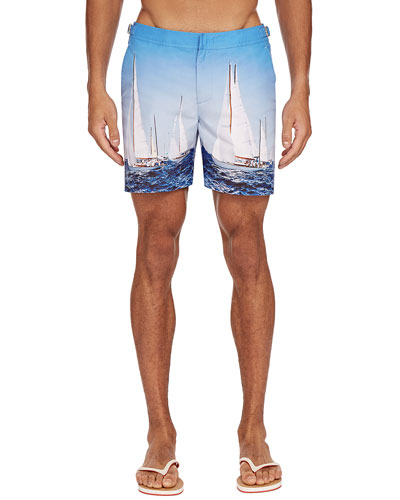 Men's Bulldog Photographic Swim Trunks