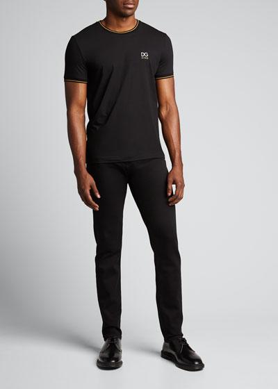 Men's Tipped Jersey Logo T-Shirt
