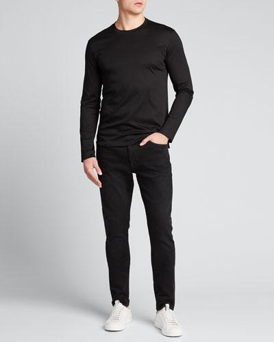 Men's Solid Mercerized Interlock T-Shirt