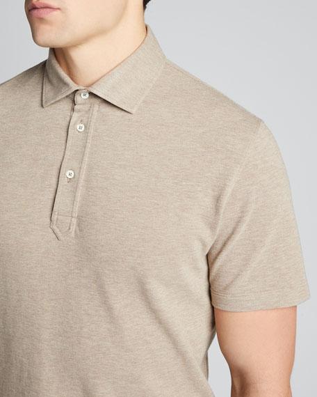 Men's Basic Piqué Polo Shirt