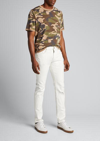 Men's Camo Reverse-Burnout T-Shirt