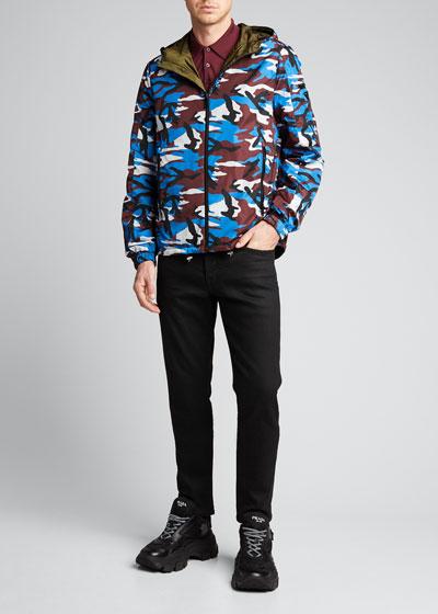 Men's Reversible Zip-Front Nylon Jacket
