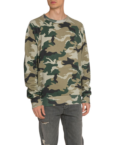 Men's Camouflage Coin Sweater