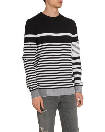 Men's Mariniere Striped Crewneck Sweater