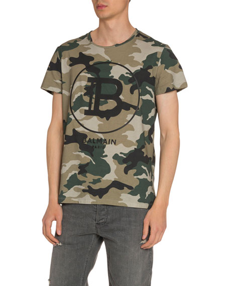 Men's Logo Graphic Camo T-Shirt