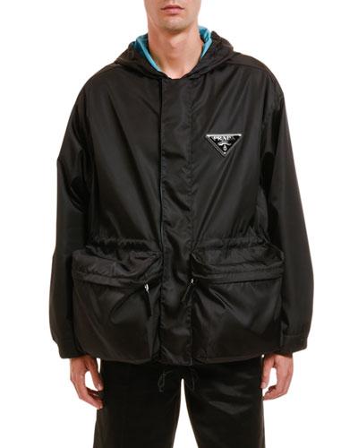 Men's Nylon Zip-Front Jacket