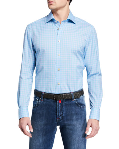 Men's Gingham Check Sport Shirt