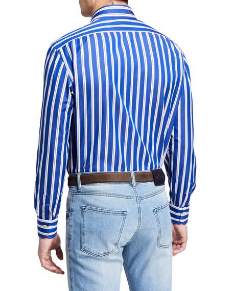 Men's Double Stripe Dress Shirt