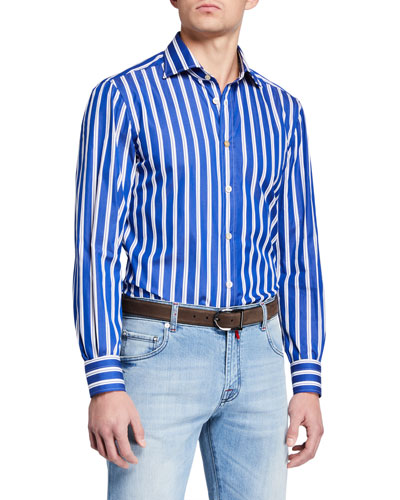 Men's Double Stripe Dress Shirt