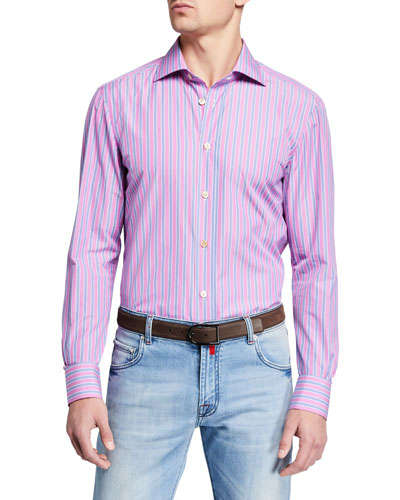 Men's Multi Stripe Dress Shirt