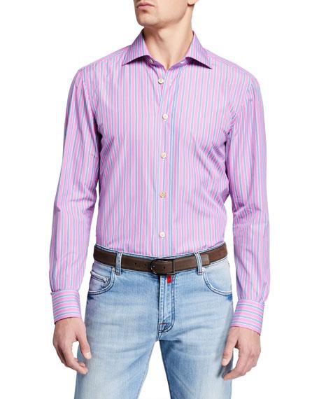 Men's Multi Stripe Dress Shirt