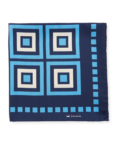 Men's Large Box Silk Pocket Square