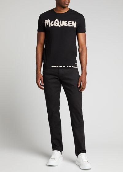 Men's Basic Dark-Wash Skinny Jeans
