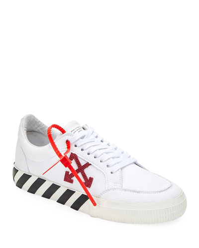Men's Arrow Canvas Sneakers with Stripes
