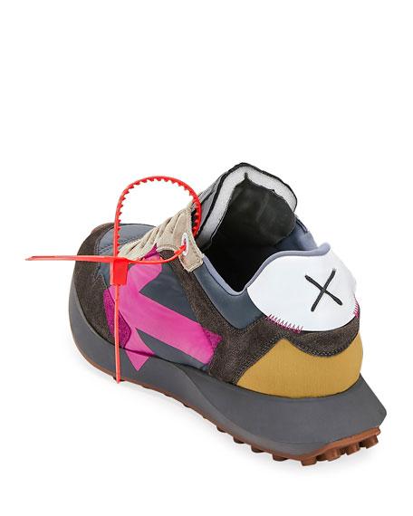 Men's Arrow Suede-Trim Trainer Sneakers