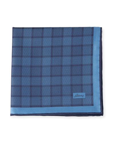Plaid Silk Pocket Square