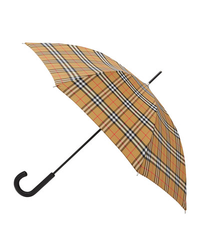 Men's Vintage Check Folding Umbrella