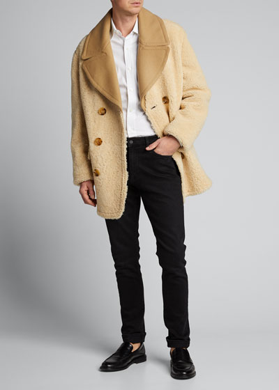 Men's Pickwell Shearling Double-Breasted Coat