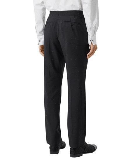 Men's Crystal-Embellished Straight-Leg Pants