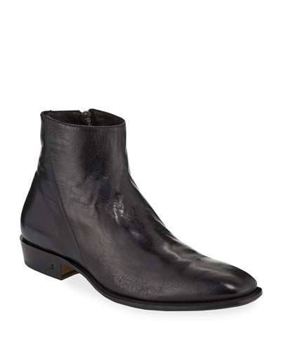 Men's Lewis Leather Side-Zip Boots