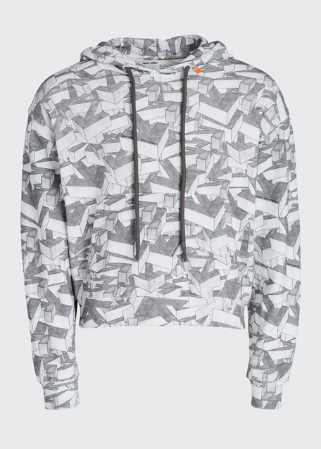 Men's Arrows Pattern Pullover Hoodie