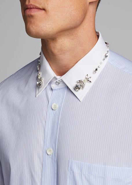 Men's Carterton Crystal-Embellished Sport Shirt
