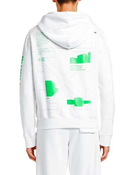 Men's Arch Shapes Slim Pullover Hoodie