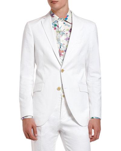 Men's Tonal Jacquard Cotton Sport Jacket