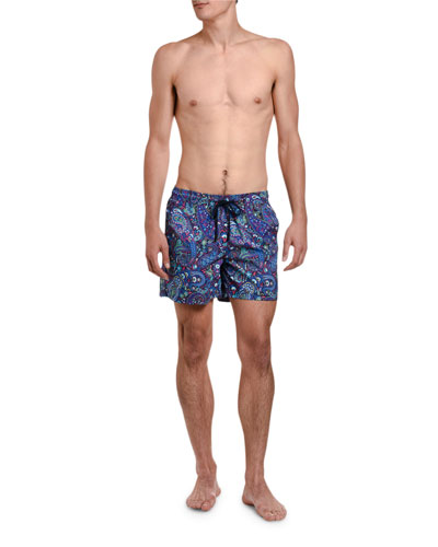 Men's Paisley Print Swim Trunks